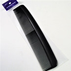 "8.5"" All Black Hair Combs 12 per pk .33 each"