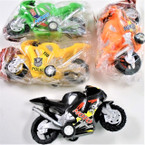 "4"" Asst Color Police Pull Back Action Motorcycles 12 per pk .56 ea"
