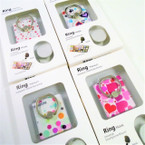 Heart,Star,Circle Print Ring Hook Phone Holders 12 per pk .56 each