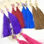 """4"""" Fashionable Tassel Earrings w/ Flower Top .56 each"""