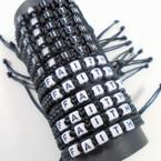 Handmade Black Macrame Bracelet w/ Faith Block Letters  .54 ea