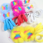 2 Pk Fury Butterfly Gator Clip Bows & Soft Ponytailers Set .50 per set