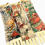 Nylon Printed Tattoo Look Sleeve Mixed Styles 12 pair per pk  .58 ea pair
