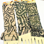 Nylon Printed Tattoo Look Sleeve Popular Black Prints12 pair per pk  .58 ea pair