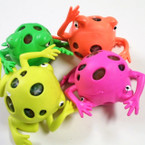 "4"" Super Squishy Frogs w/ Multi Color Beads 12 per display bx .65 ea"