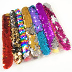 "8""  Mermaid Change Color Sequin Slap Bracelet 12 per pk  .65 ea"