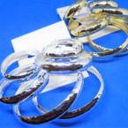 3 Pack Gold & Silver Wide Hammered Look Hoop Earrings .54 per set