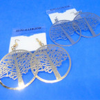 "1.5"" Gold & Silver Lightweight Tree of Life Earrings .54 ea"