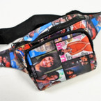Lg. Size Obama Picture Theme 3 Zipper Waist Bags 12 per pk $ 4.25 ea