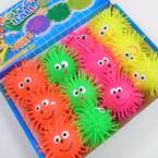 "4"" Flashing Neon Color Puffer Balls w/ YoYo & Happy Face 12 per display bx .56 each"