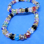 Multi Color Crystal Beaded Stretch Bracelets 12 per pk .54 each