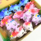 "3.5"" Squishy Unicorn w/ Multi Color Beads 12 per display bx .60 each"
