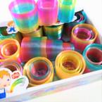 NEW 3 in 1 Rainbow Color Magic Springs 12 sets per display bx .60 per set