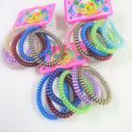 5 Pack Asst Metallic Finish Phone Cord Bracelets/Ponytailers .56 per set