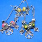 Pandora Style Charm Bracelets w/ Silver Tree of Life .56 each