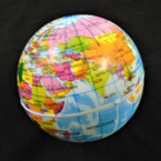 "2.5"" World Globe Stress Relax Squeeze Balls 12 per pk .42 each"