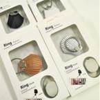 Sea Shell Theme Print Ring Hook Phone Holders 12 per pk .56 each
