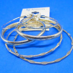 3 Pair Fancy Gold Hoop Earrings .54 per set