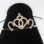 All Silver Rhinestone Tiara Headbands Clear Stones (003) .65 each