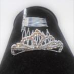 "2.5"" Rhinestone Silver Tiara Comb All Clear Rhinestones (017) .54 ea"