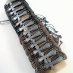 Teen Leather Bracelets  w/ Silver Cross   12 per pk .54 ea