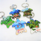 Metal Turtle Shaped Florida Scenic Keychains 12 per pack  .56 each