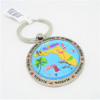 "1.5"" Metal Round Florida  Scenic Keychains 12 per pack  .54 each"