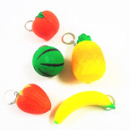 "2-3"" Squishy Fruit/Veggie Assortment Keychains .55 each"