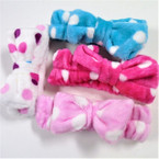 Soft After Shower/Night Time Stretch Headwraps w/ Poka Dots .75 each