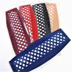 """3"""" Winter Color Open Weave Velvet Feel Headband w/ Elastic Back .25 ea"""