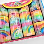 Unicorn Rainbow Theme Magic Springs 12 per display  bx .62 each