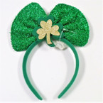 St. Patrick's Day Novelty Headbands Sparkle Bow 12 per pk .62 ea