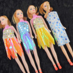 "SPECIAL  10"" Fashion Dolls Mixed Style Dresses 12 per pk .60 ea"