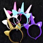 Unicorn Theme Light Up Novelty Headbands 12 per pk .75 each
