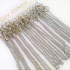 Heavy Duty Clip On Keychain w/ Long Silver Chain 12 per pk .58 ea
