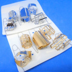 Value Pack 5 Pc Ring Set Gold/Silver Mixed Styles (2272)  .54 per set