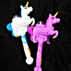 "6"" X 11"" Carousel Unicorn Crystal Ball Wand sold by pc $ 2.50 ea"