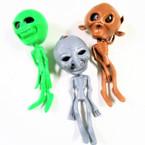 "6"" Alien Squishy Figures w/ Beads 12 per display bx .60 ea"