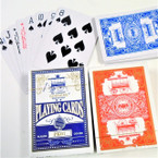 Plastic Coated Playing Cards Red/Blue 12 decks per bx .43 ea deck