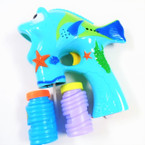 "6"" X 7"" Fish Bubble Gun w/ Shells & Light & Music sold by pc $3.50 each"