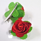 "2"" Red Rose on Multi Purpose Gator Clip 24 per box .27 each"