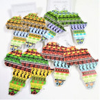 "3""  Map Style African Clothes Print Wood Earrings  .54 each"