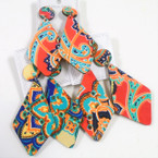 "3"" Textured Feel African Clothes Print Wood Earrings Diamond Shape  .54 each"