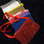 "3.5"" X 5.5"""" Sequin Sparkle  Zipper Bag w/ Strap .58 ea"