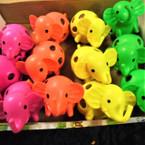 "3.5"" Super Squishy Elephant  w/ Multi Color Beads 12 per display bx .60 ea"
