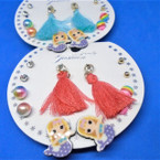 6 Pair Kid's Mermaid Theme Fashion Earring Set w/ Tassel Earrings  .54 per set