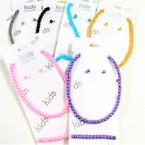 Kid's Glass Pearl Neck Set w/ Bracelet 6 colors  .54 ea