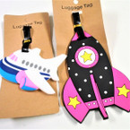 "4"" Durable SpaceTheme Luggage Tags 12 per pk .56 each"