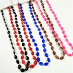 "Classic 28""-30"" Mixed Color Lucite Bead Fashion Necklace .58 each"