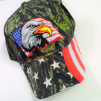 Best Quality Camo Print Baseball Cap w/ USA EAGLE sold by pc $ 2.75 each